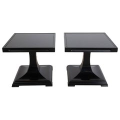 Pair of Mid-Century Modern Black Low Tables by Tomlinson Sophisticate