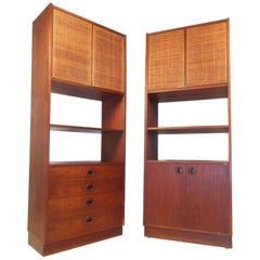 Pair of Mid-Century Modern Bookcases or Shelves
