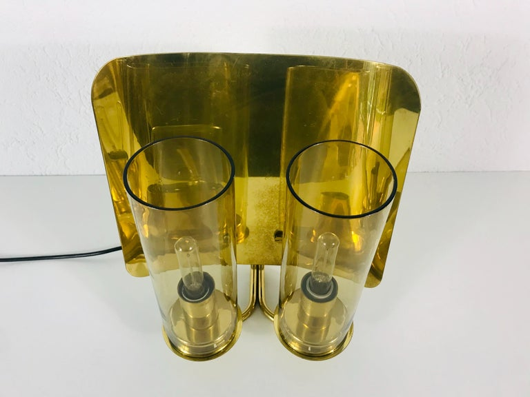 Pair of Mid-Century Modern Brass Sconces by Hans-Agne Jakobsson, Sweden, 1960s In Good Condition For Sale In Mainz, DE