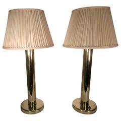 Pair of Mid-Century Modern Brass Table Lamps by Walter Von Neesen