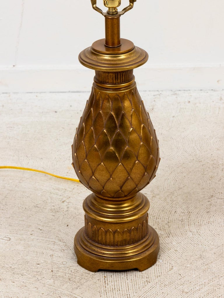 Pair of Mid-Century Modern Brass Table Lamps For Sale 1