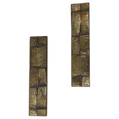 Pair of Mid-Century Modern Brutalist Style Draw Pulls