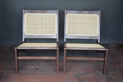 Pair of Mid-Century Modern Cane Chairs