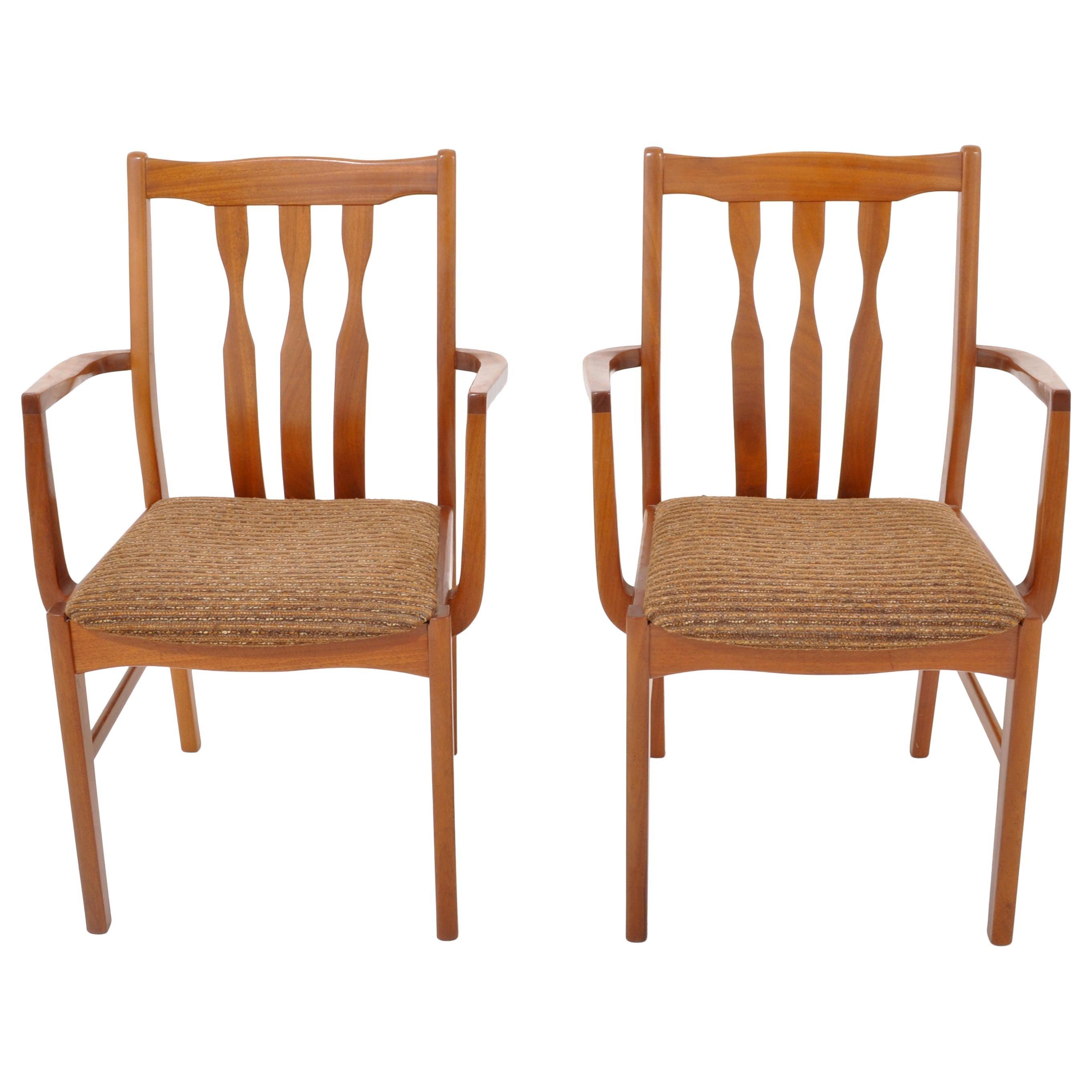Pair of Mid-Century Modern Captain's/Armchairs in Teak, 1960s