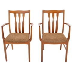 Pair of Mid-Century Modern Captain's/Armchairs in Teak, 1960s