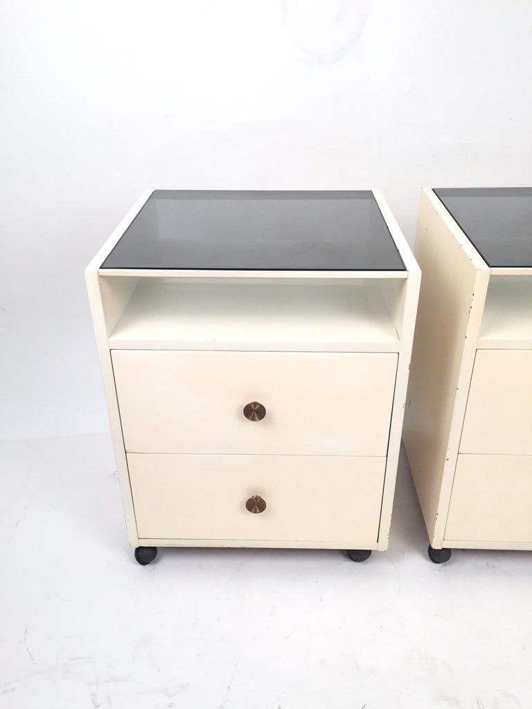 Mid-20th Century Pair of Mid-Century Modern Carlo de Carli Nightstands for Sormani, 1960 For Sale