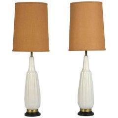 Pair of Mid-Century Modern Ceramic Table Lamps