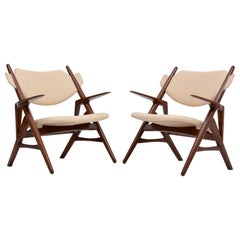 Pair of Reupholstered Mid-Century Modern Chairs
