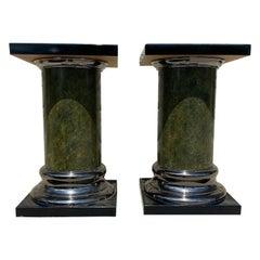 Pair of Mid-Century Modern Columnar Pedestals by Mastercraft