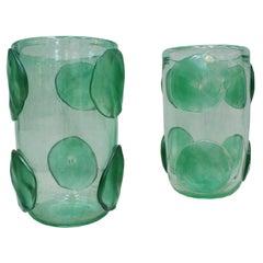Pair of Mid-Century Modern Costantini Murano Glass Italian Vases