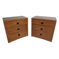 Pair of Mid-Century Modern Curved Front Chests