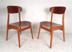 Pair of Mid-Century Modern Danish Chairs