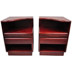 Pair of Mid-Century Modern Danish Modern Rosewood Nightstands Tables by Mobican