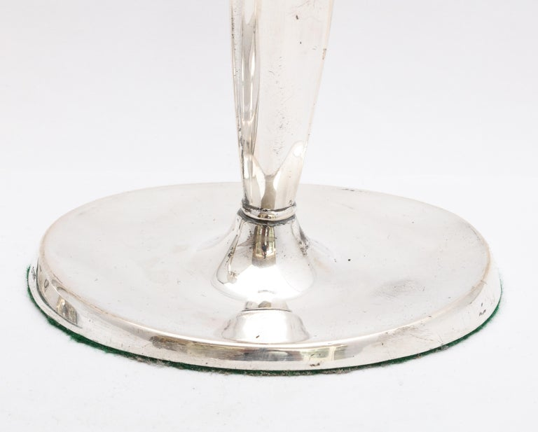 Mid-20th Century Pair of Mid-Century Modern Danish Sterling Silver Candlesticks by Cohr For Sale