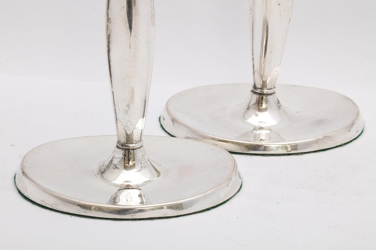 Pair of Mid-Century Modern Danish Sterling Silver Candlesticks by Cohr For Sale 2
