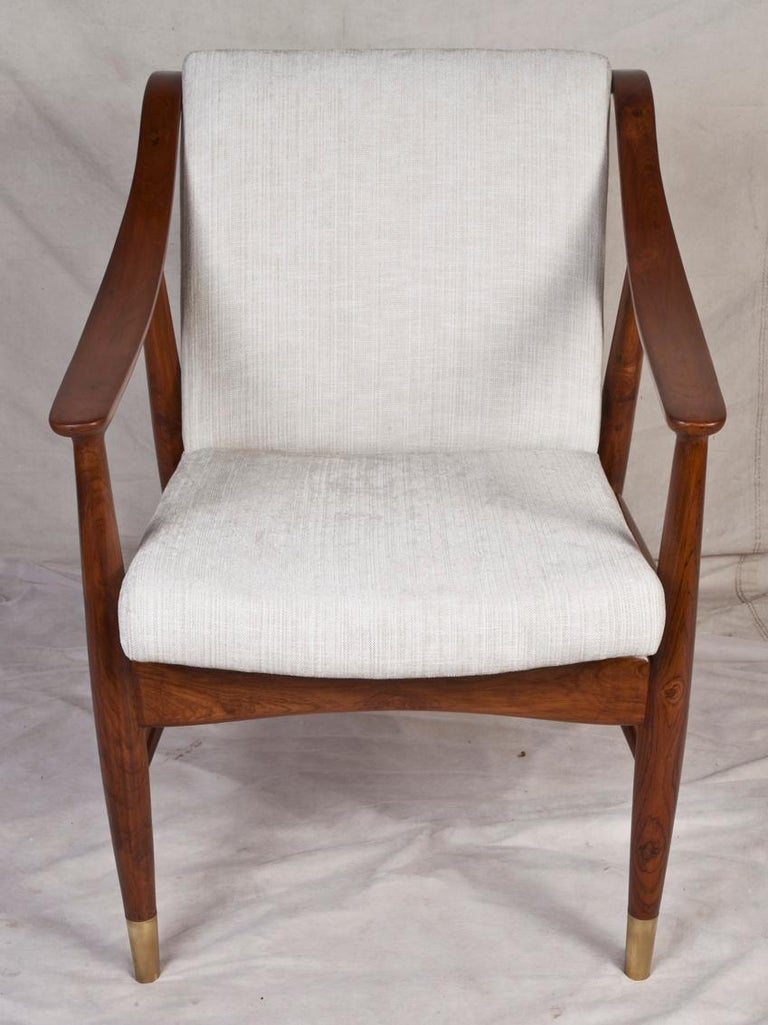 Dutch Pair of Mid-Century Modern Danish Teak Chairs For Sale