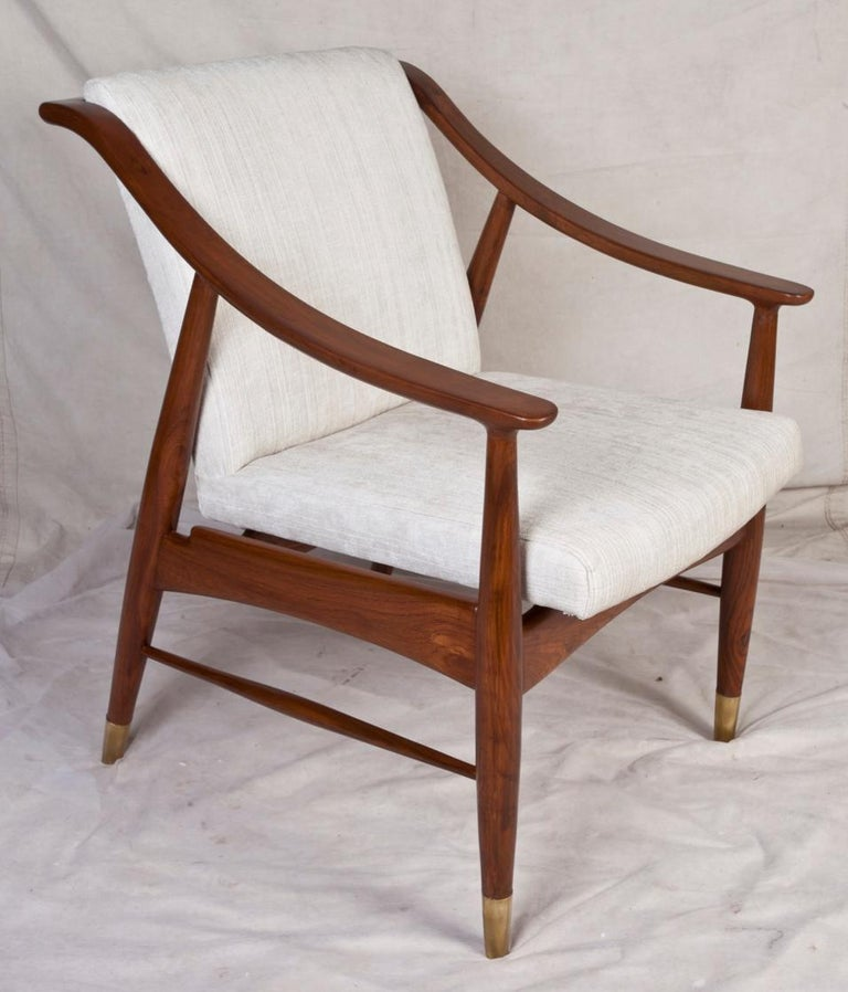 Pair of Mid-Century Modern Danish Teak Chairs In Good Condition For Sale In Nantucket, MA