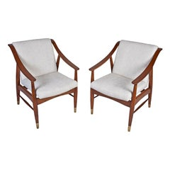 Pair of Mid-Century Modern Danish Teak Chairs