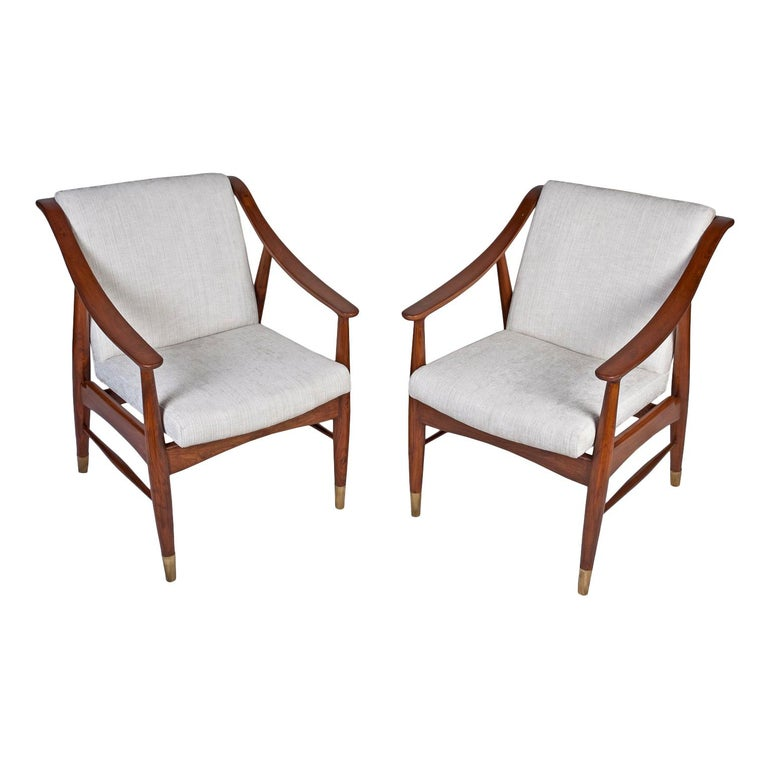 Pair of Mid-Century Modern Danish Teak Chairs For Sale