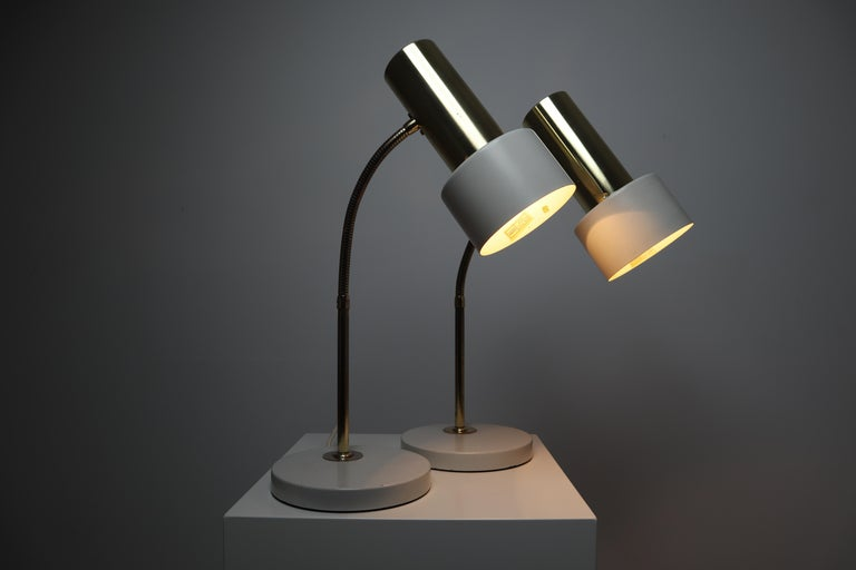 Pair of Mid-century Modern Desk or Table Lamps, Bedside ...