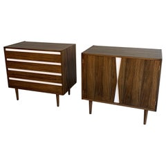 Pair of Mid-Century Modern Dresser Credenza Cabinets by American of Martinsville