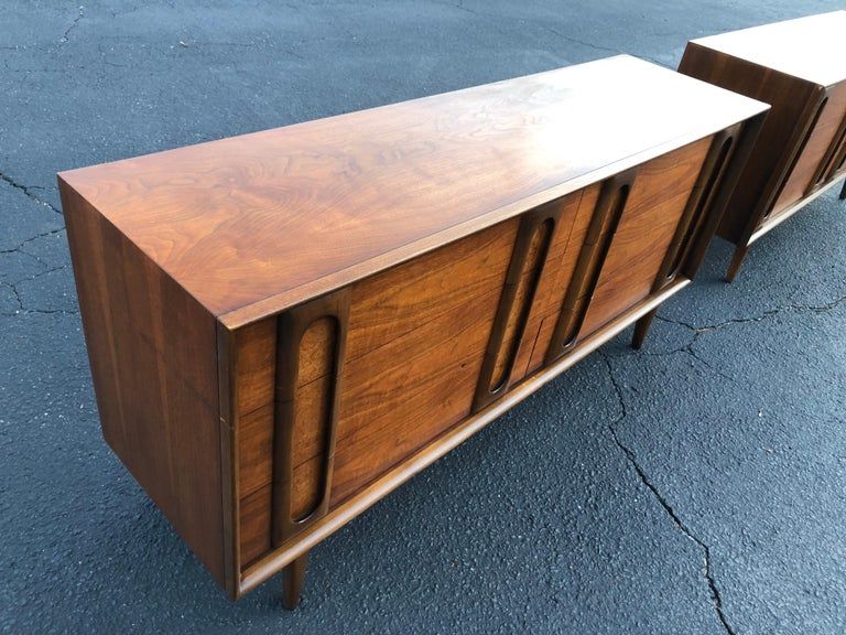 Pair of Mid-Century Modern Dressers by Lane 7