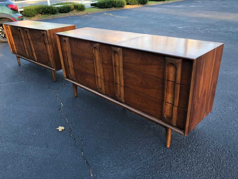 Pair of Mid-Century Modern Dressers by Lane 10