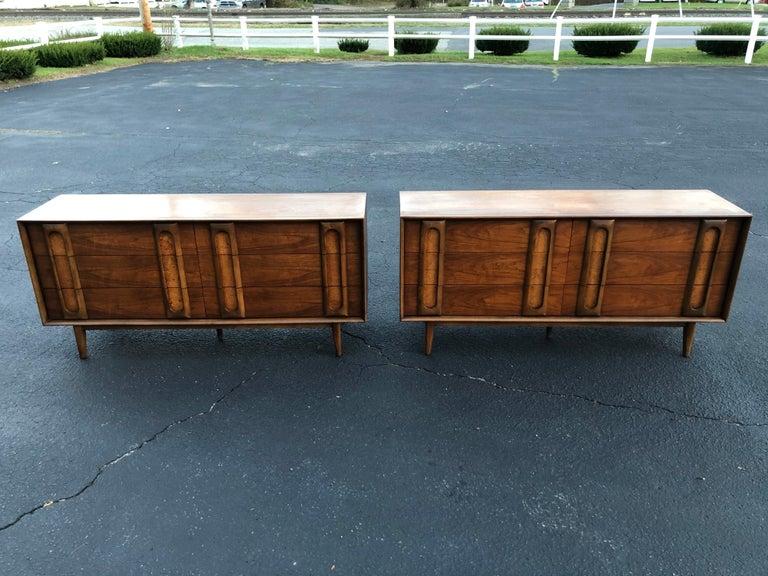 Pair of Mid-Century Modern Dressers by Lane 13