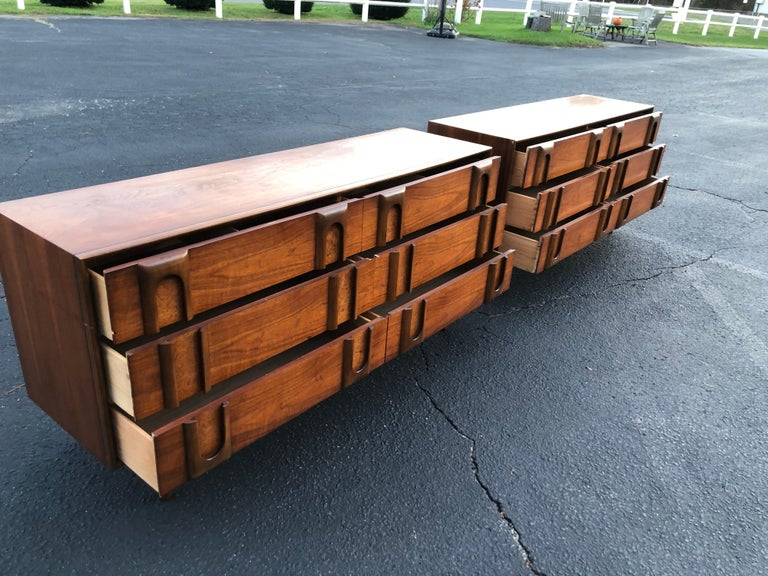 Pair of Mid-Century Modern Dressers by Lane 14