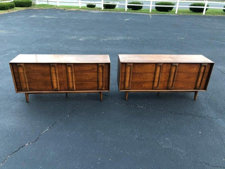 Pair of Mid-Century Modern Dressers by Lane 1