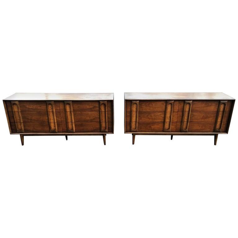 Pair of Mid-Century Modern Dressers by Lane