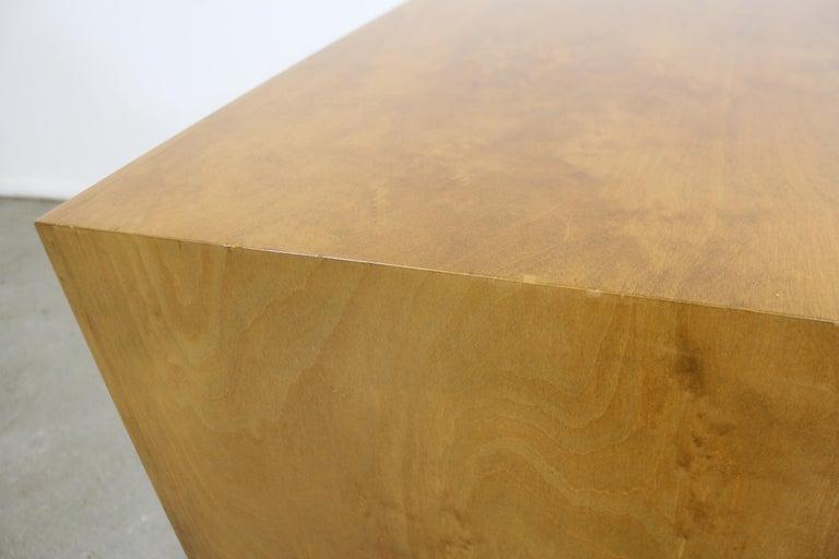 Pair of Mid-Century Modern Edmond J. Spence Sculpted Birch Nightstands For Sale 4