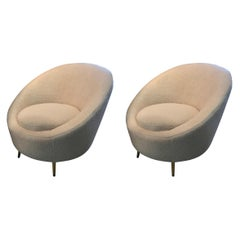 Pair of Mid-Century Modern Egg Chairs
