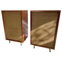 Pair of Mid-Century Modern Electro-Voice Stereo Cabinet Speakers