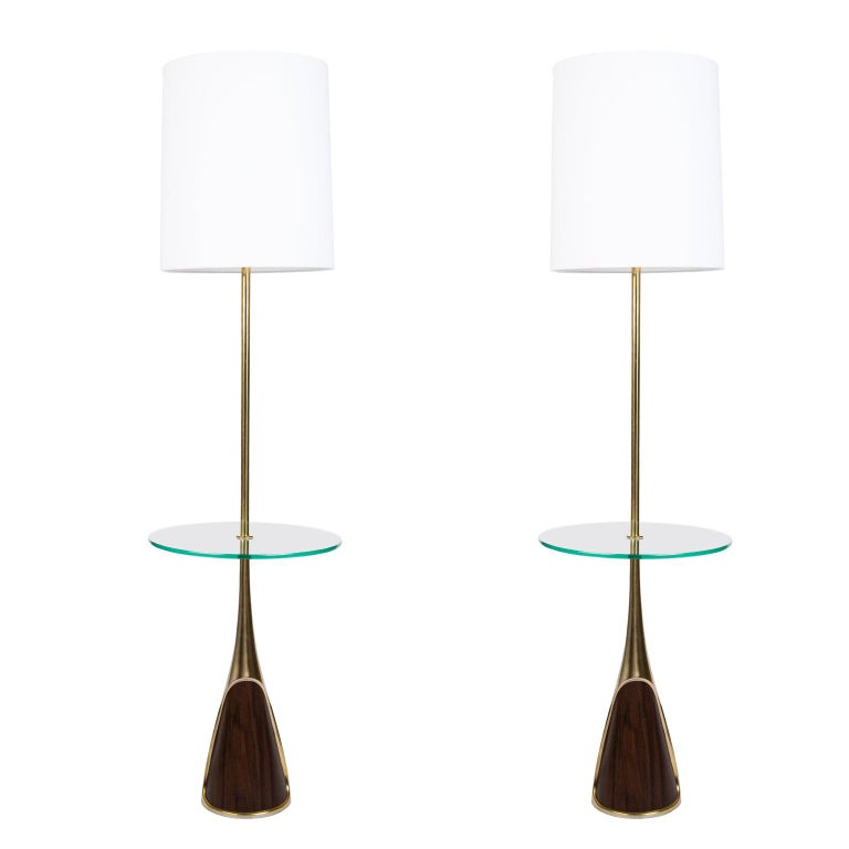 Pair of Mid-Century Modern Floor Lamps by the Laurel Lamp Company, Usa For Sale