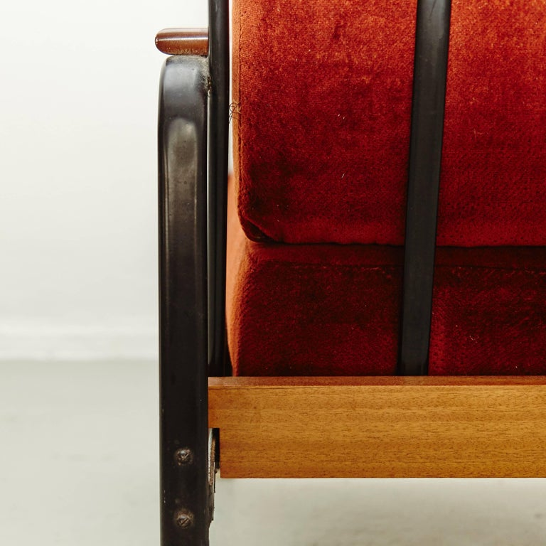 Pair of Mid-Century Modern French Easy Chairs after Jean Prouvé, circa 1950 For Sale 2