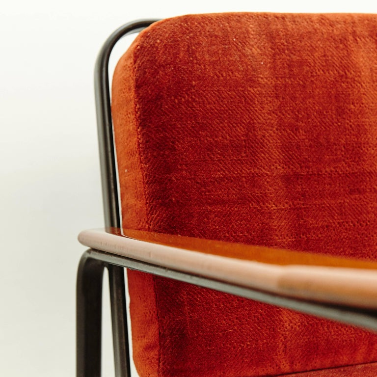 Pair of Mid-Century Modern French Easy Chairs after Jean Prouvé, circa 1950 For Sale 3