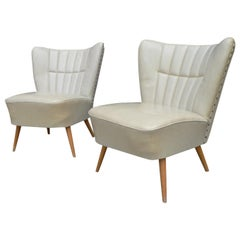 Pair of Mid-Century Modern French Lounge Chairs, France, circa 1950