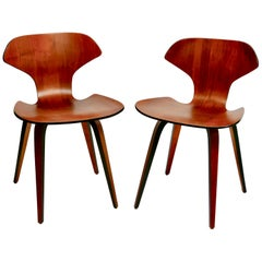 Pair of Mid-Century Modern George Mulhauser Plywood Side Chairs by Plycraft