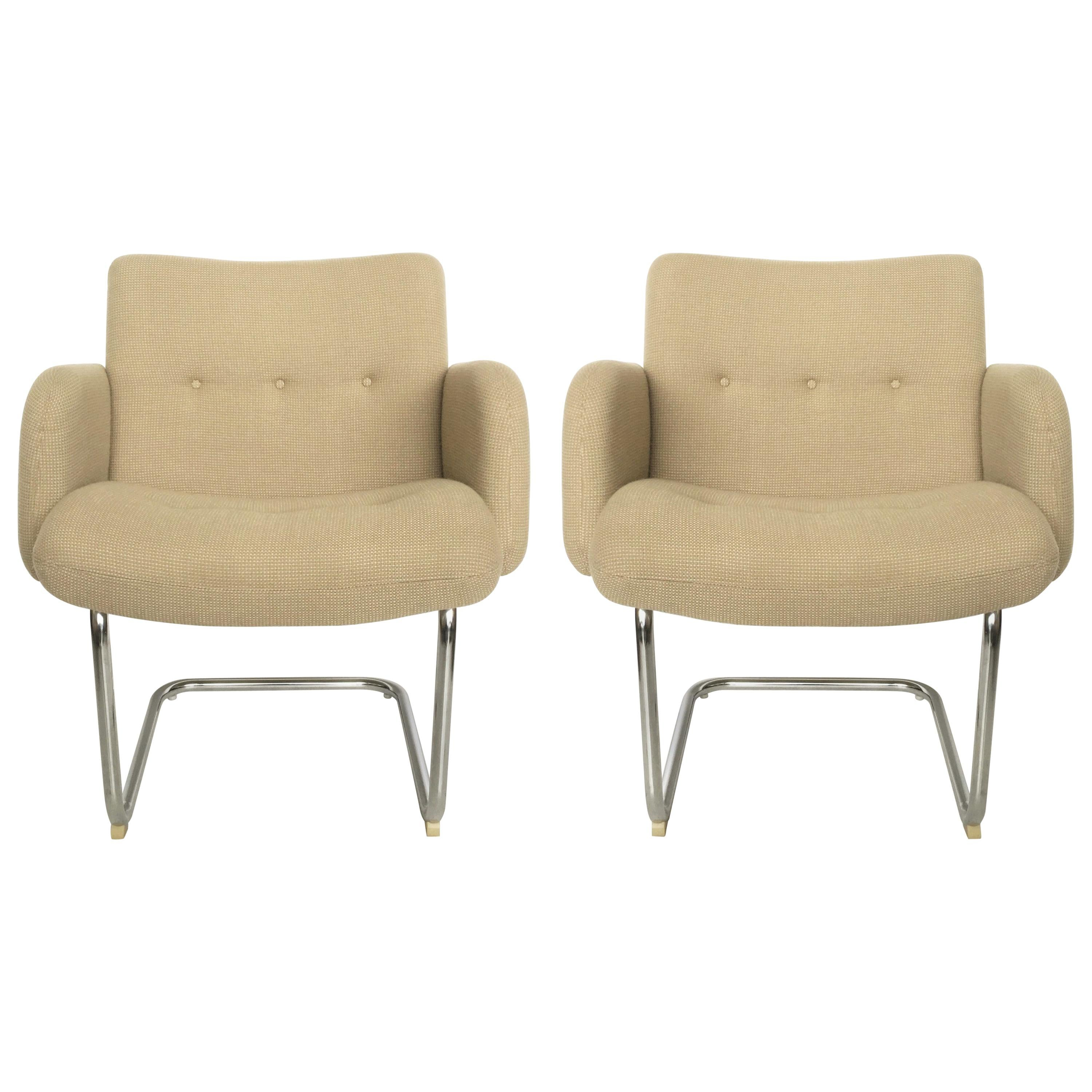 Pair of Mid-Century Modern Harvey Probber Cantilevered Chairs