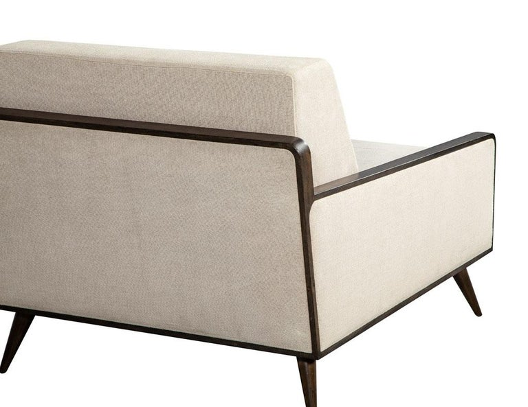 Pair of Mid-Century Modern Inspired Lounge Chairs For Sale 4