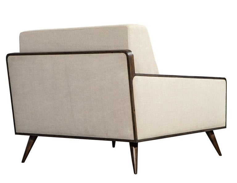 Pair of Mid-Century Modern Inspired Lounge Chairs For Sale 5