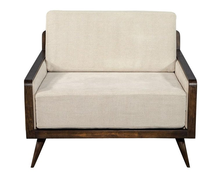 Pair of Mid-Century Modern Inspired Lounge Chairs For Sale 6