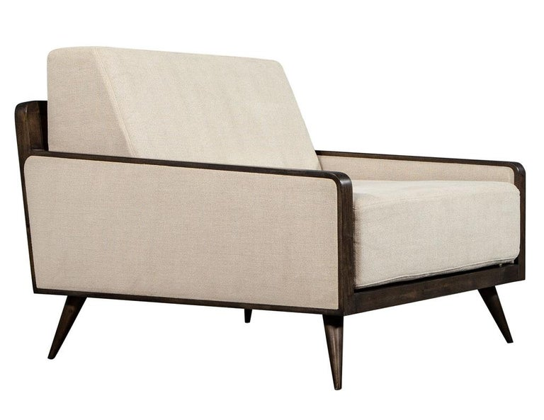 American Pair of Mid-Century Modern Inspired Lounge Chairs For Sale