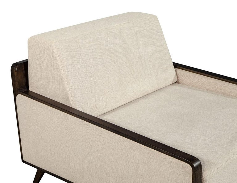 Metal Pair of Mid-Century Modern Inspired Lounge Chairs For Sale