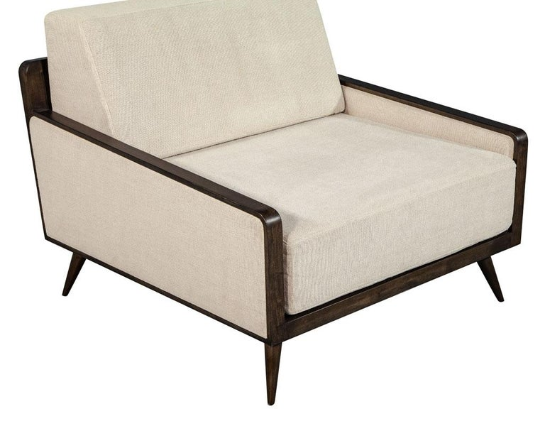 Pair of Mid-Century Modern Inspired Lounge Chairs For Sale 1