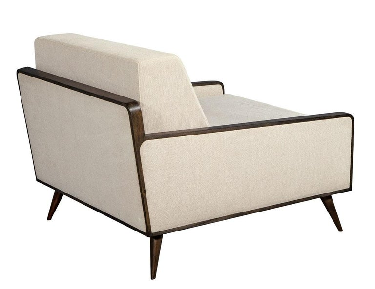 Pair of Mid-Century Modern Inspired Lounge Chairs For Sale 2