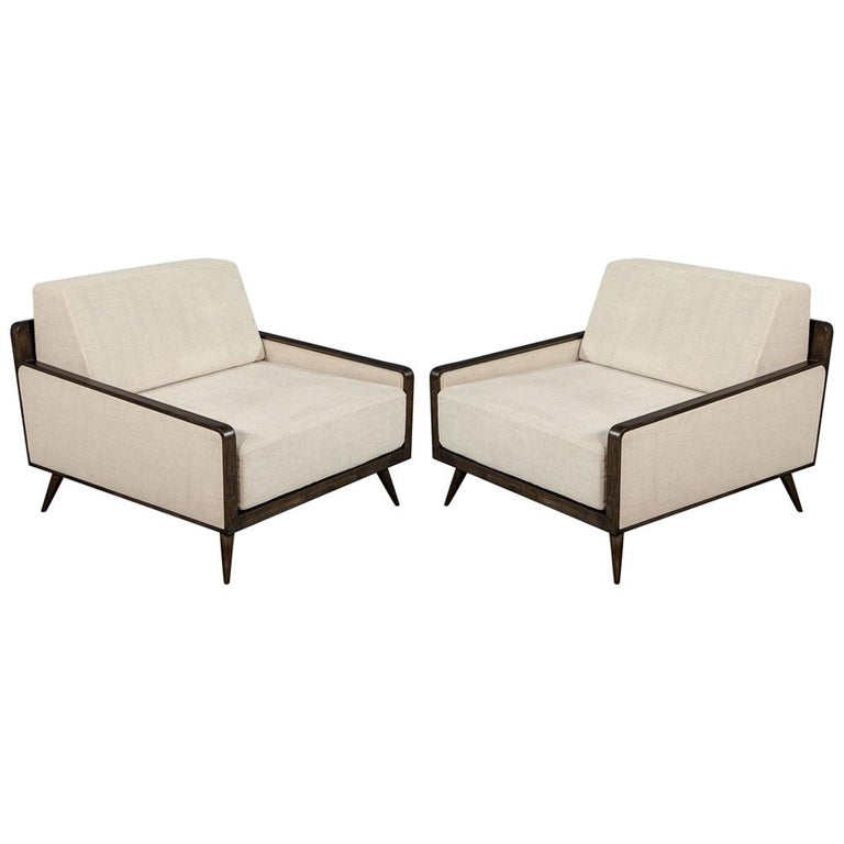 Pair of Mid-Century Modern Inspired Lounge Chairs For Sale