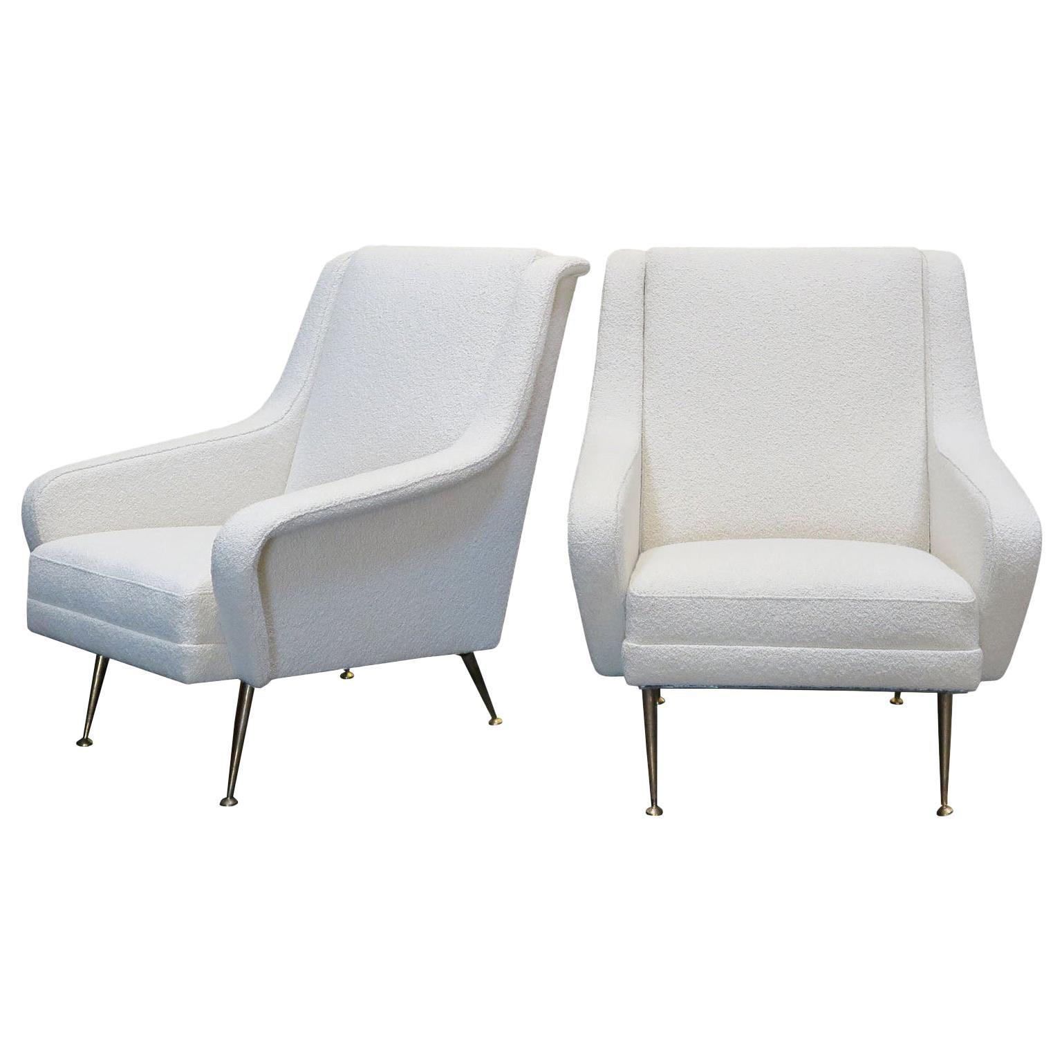 Pair of Mid-Century Modern Italian Lounge Chairs by Carlo de Carli, circa 1960s