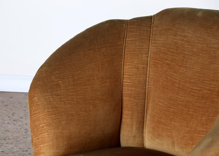 20th Century Pair of Mid-Century Modern Italian Lounge Chairs For Sale